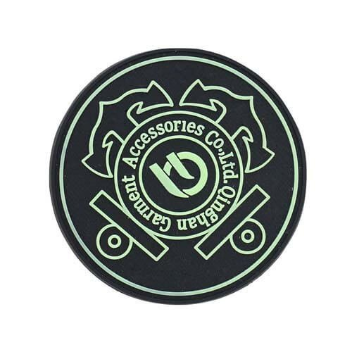 Custom Luminous Noctilucence Glow In The Dark Rubber Patches