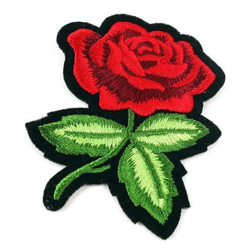 Customized Rose Flower Embroidered Iron on Patch
