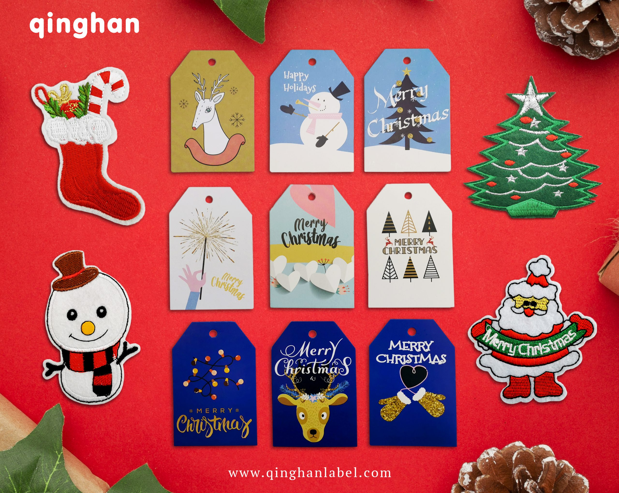 Christmas Hang tags and patches