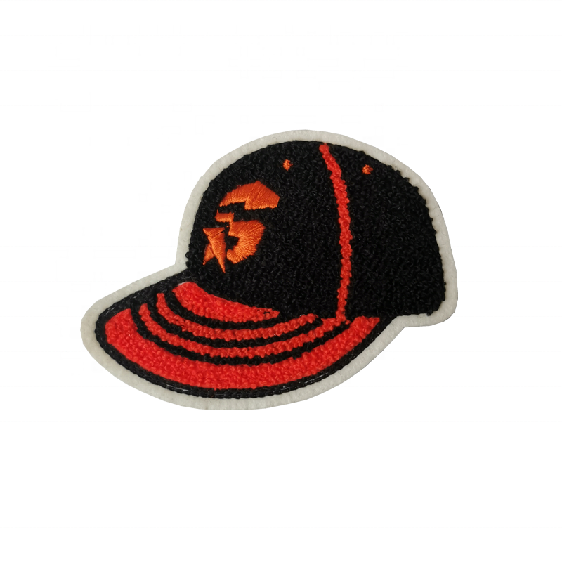 Baseball hat supper Chenille Embroidery Patches