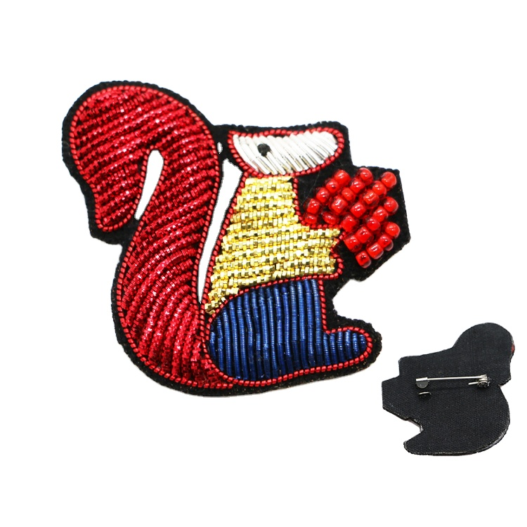 Custom Hand Made Pin-on Embroidered Bullion Patches Blazer Badges