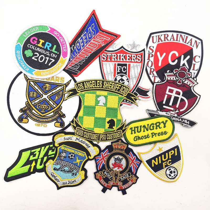 Cheap custom sport patches, iron on sport patches for team