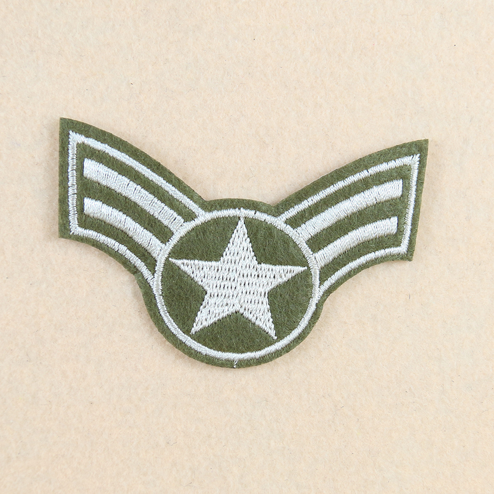 Picture custom military five-pointed stars air force badge embroidery patches