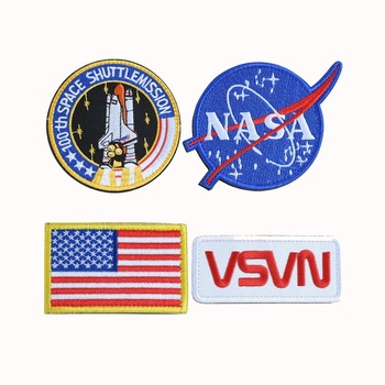 NASA Tactical Flag Embroidered Patch / US Flag Patch / USA NASA Fabric Patch