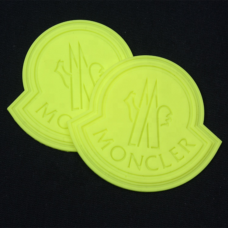 Bulk Custom Debossed Brand Logo Luminous Soft PVC Rubber Patches for Clothes