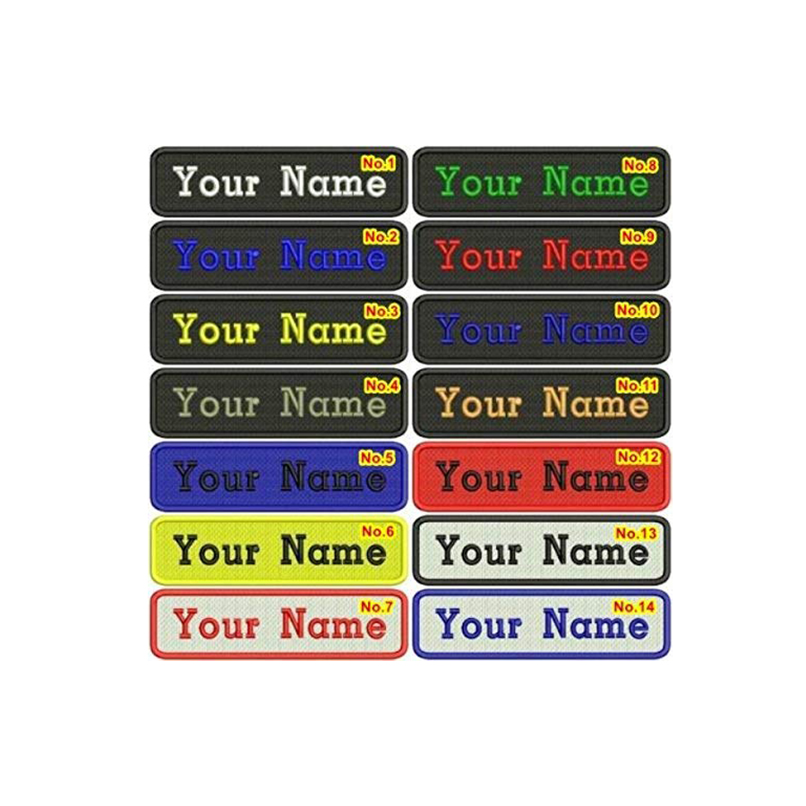 Custom Name Patches Custom Embroidered Letter Patches for Jerseys