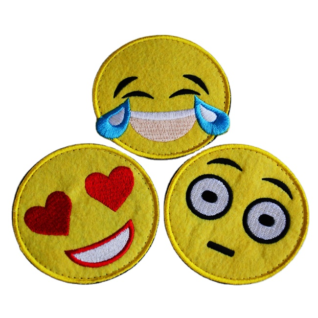 China hot-sale high-quality wholesale embroidery emoticon patch
