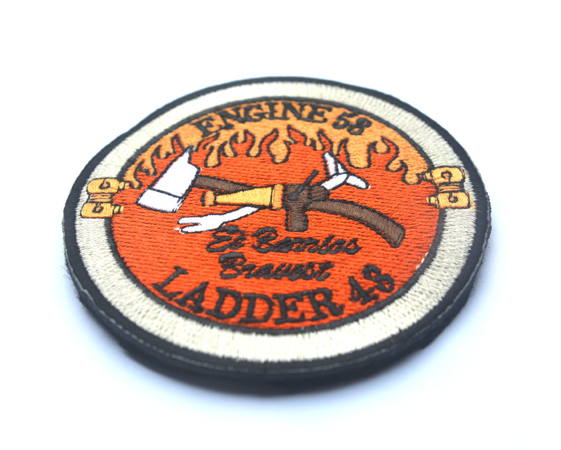 SPECIAL FORCES RED WINGS LONE ENGINE 58 LADDER 48 Firefighter Fire Department Fireman Military BADGE Patch Applique