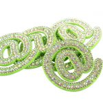 Customized Iron On 3D Alphabet Diamond Rhinestone Patches