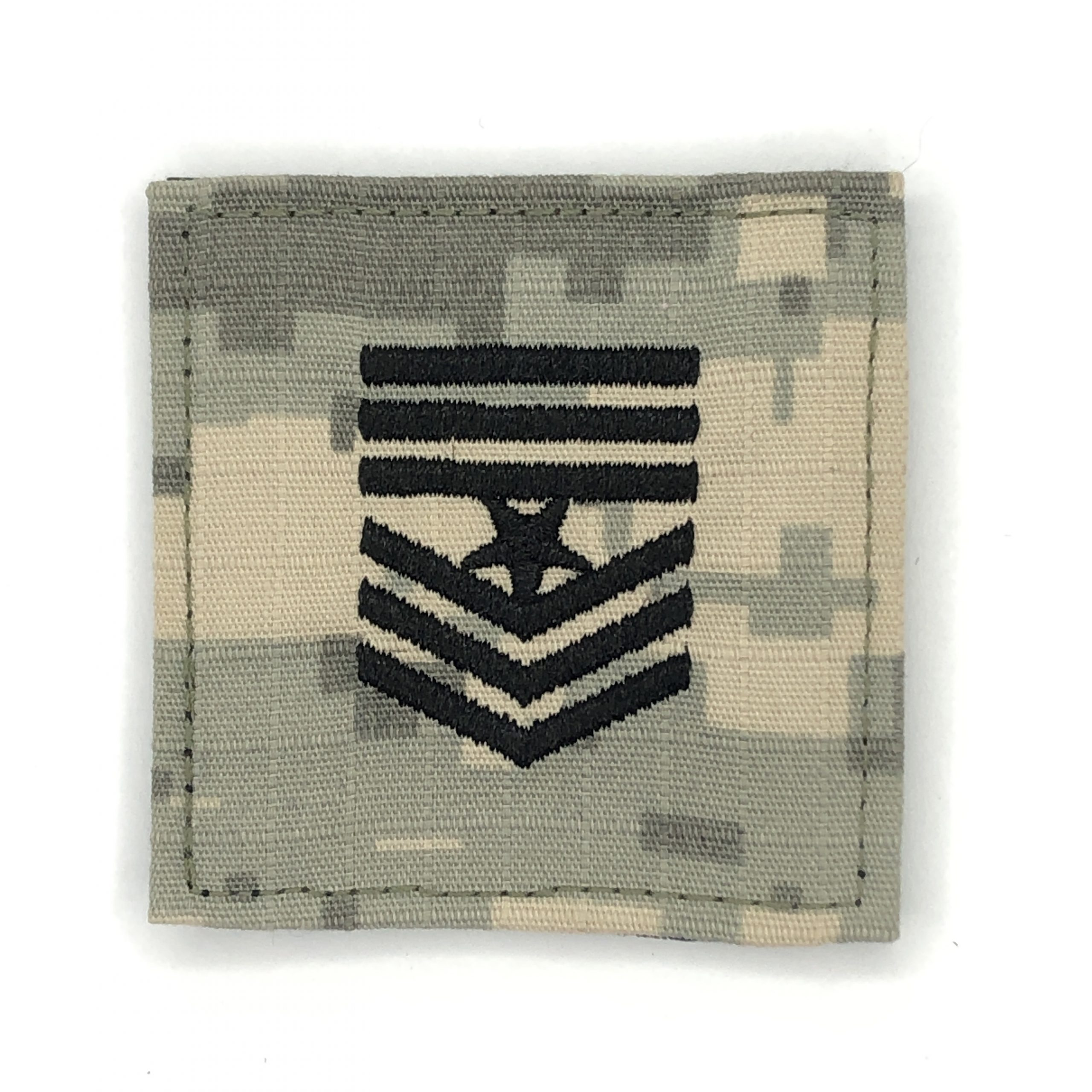 Customized Camouflage Military Rank Embroidered Patch For Army Accessory With Hook And Loop