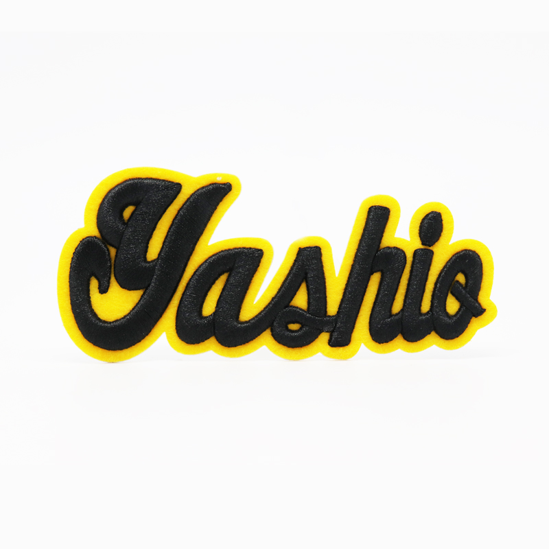 Wholesale Custom Embroidered Logo Applications Badges 3D Foam Embroidery Patches for Garment Hats Caps