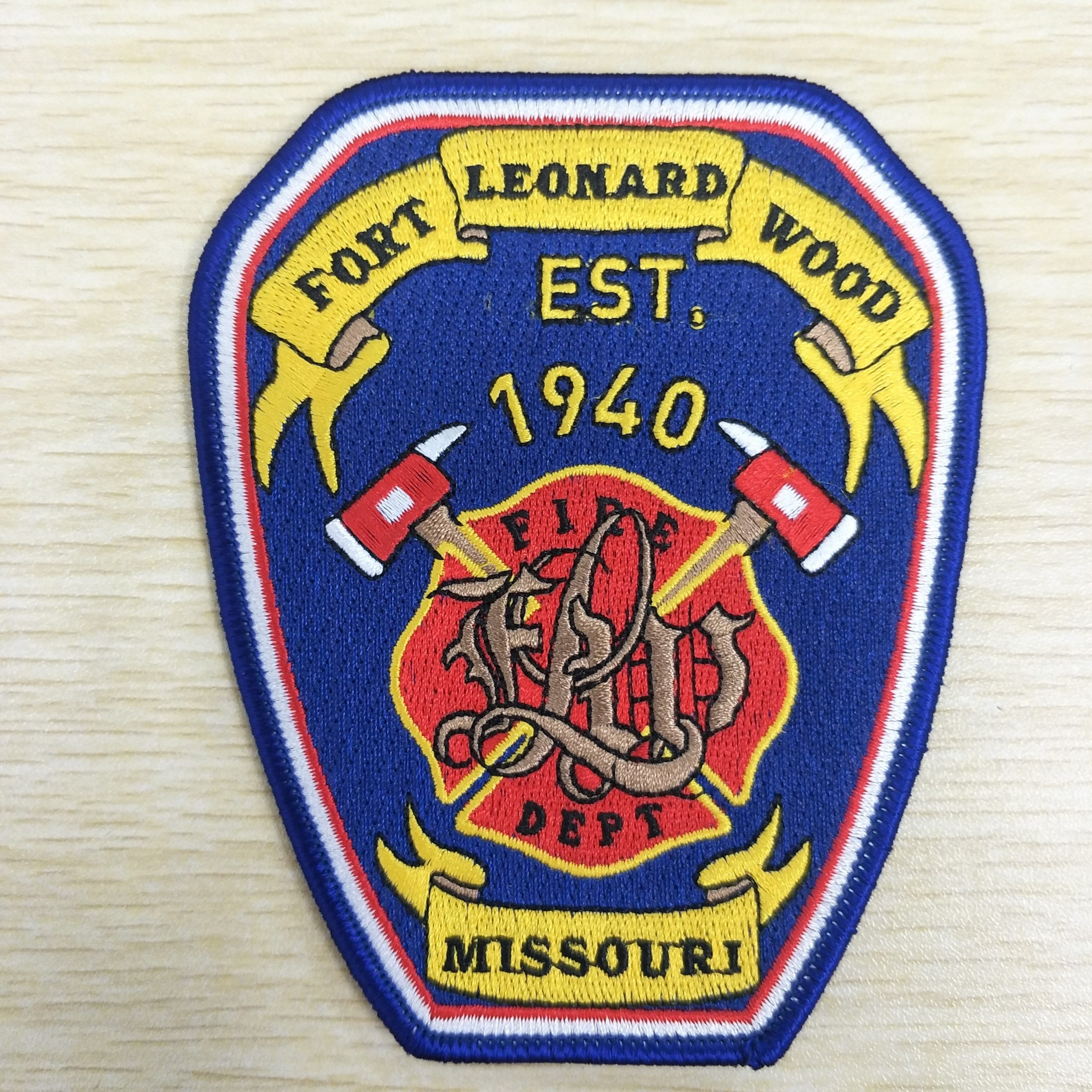 Fire Department Brand Embroidery Badge,Embroidery Patches at customized logo
