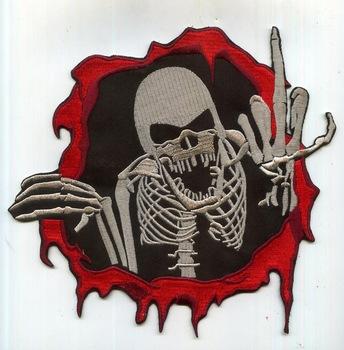 Devil Skull Customer Design Embroidery Patch