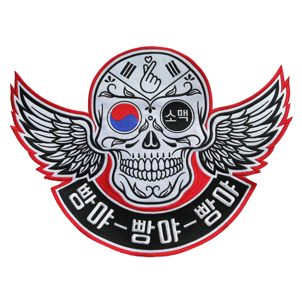custom wholesale large embroidered biker patches