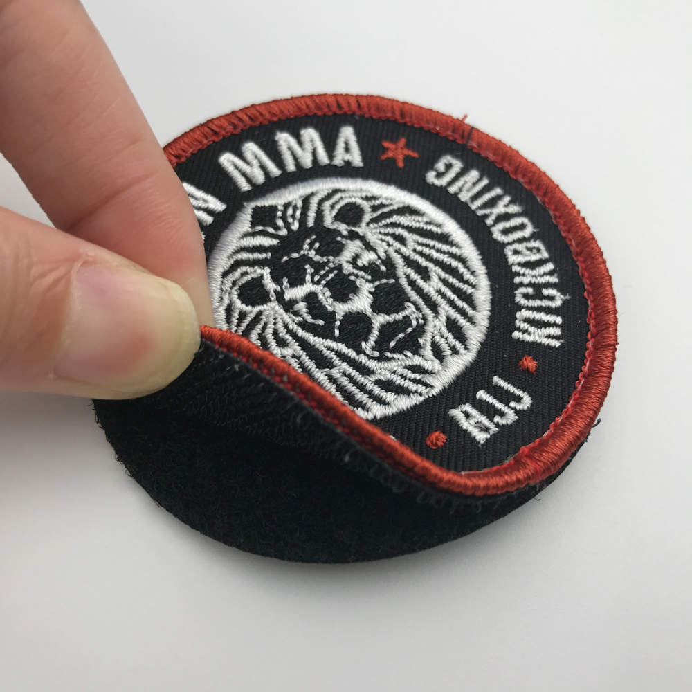Custom Free Sample hook and loop Embroidery Patches For Fashion Clothing Accessory
