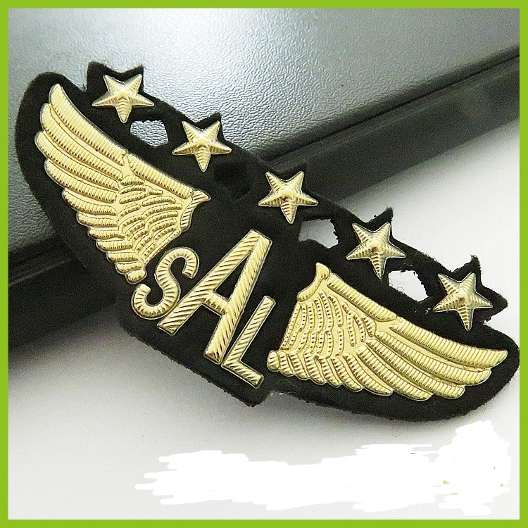 Pilot and airline stewardess uniform badge 2016 custom aviation patches