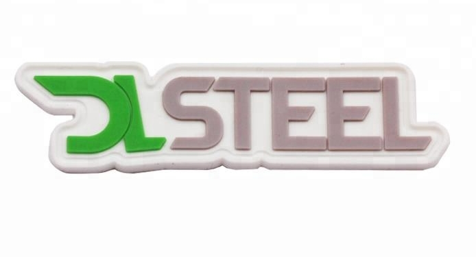 Hot selling soft rubber logo badge silicone clothing patch