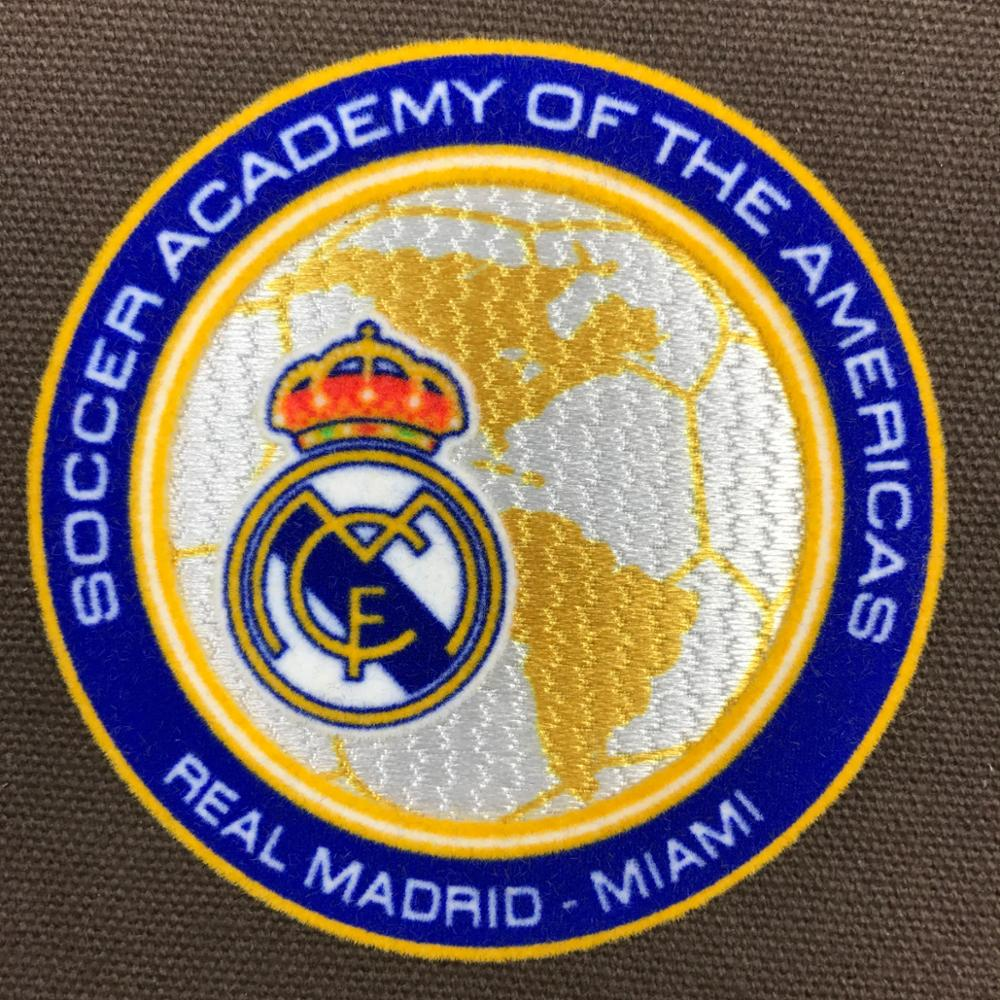 football club Soccer patches Custom Iron 3D Flock Patch