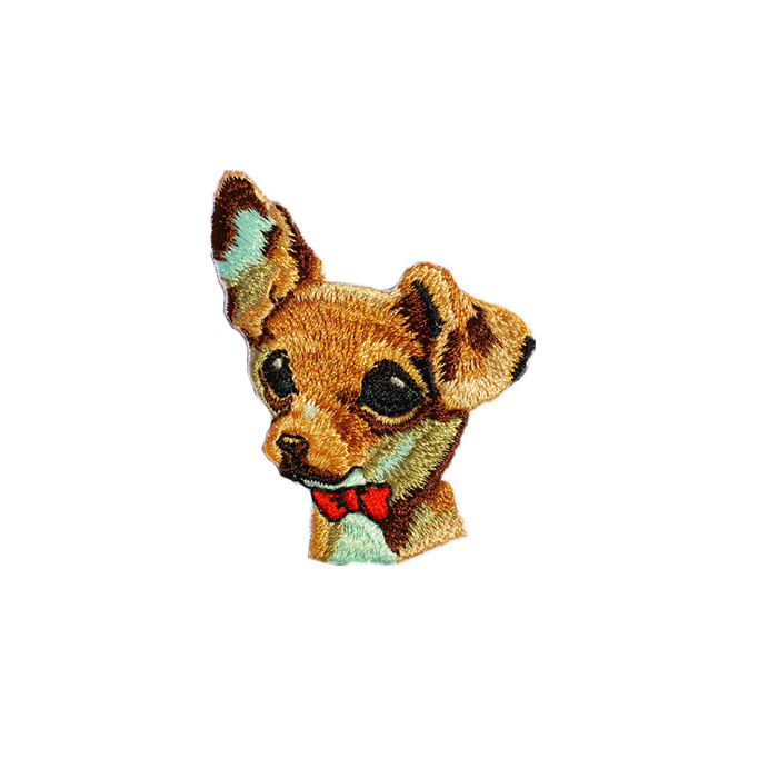 Best Quality No Minimum Custom Self-Adhesive Dog Patch Embroidery Manufacturer in China