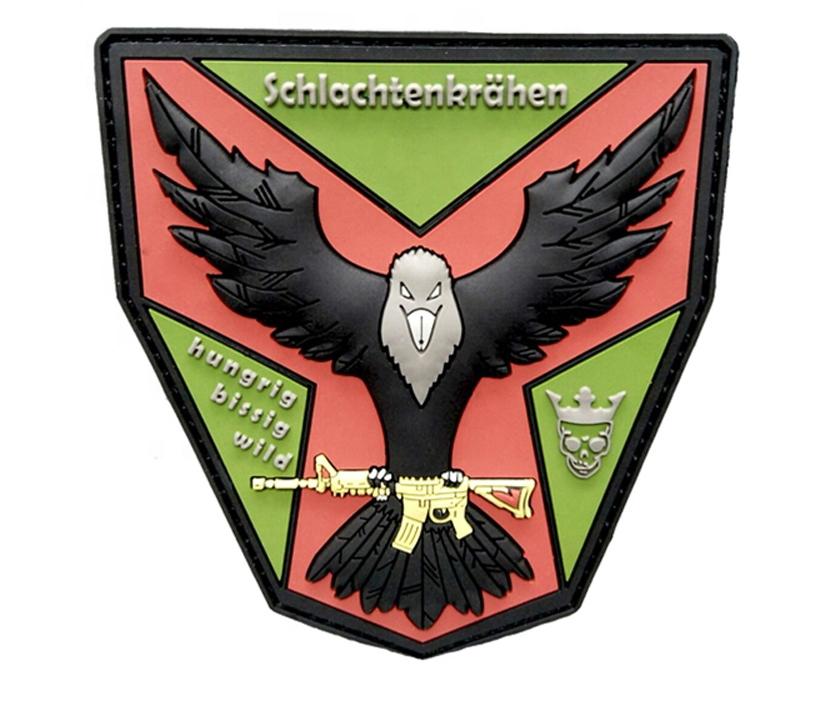 Custom 3D rubber morale label pvc military patches