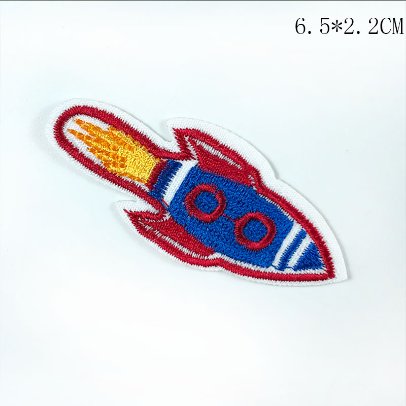 Hot selling activity price flying rocket cartoon embroidery patches