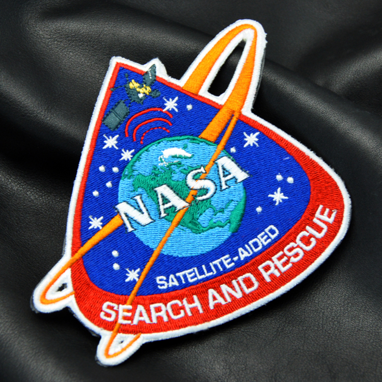 High Quality Custom brand NASA universe patch embroidered patch 3D embroidery patch