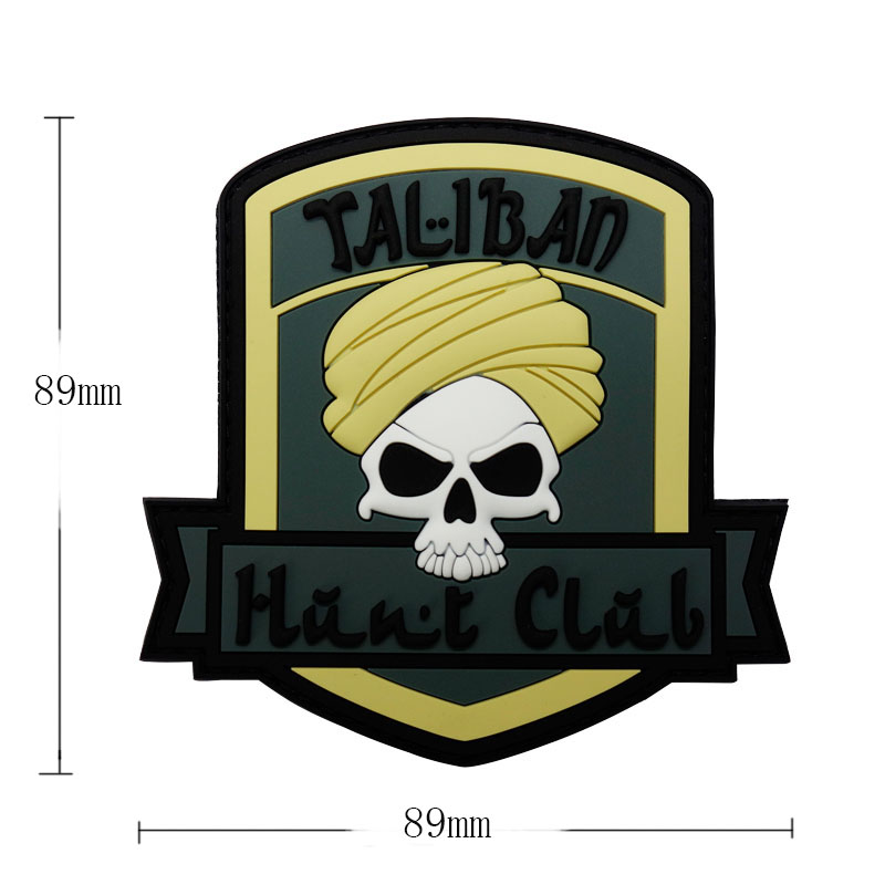 Wholesale Cheap Military Pirate Punisher Skull Patch With Fastener Hook & Loop