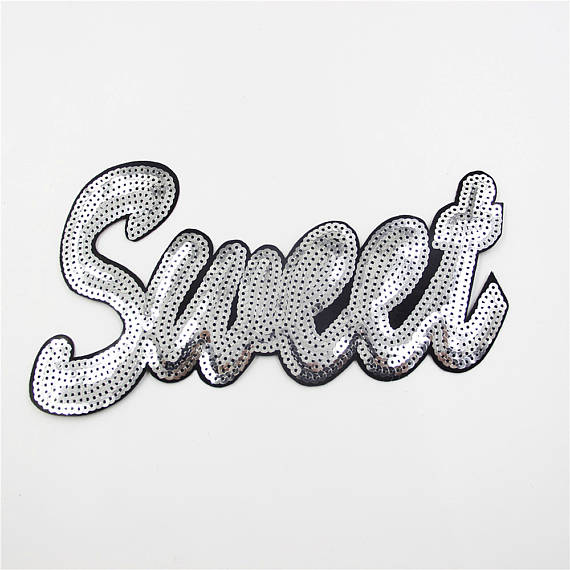 custom cheap colorful iron on sequin patch for garment