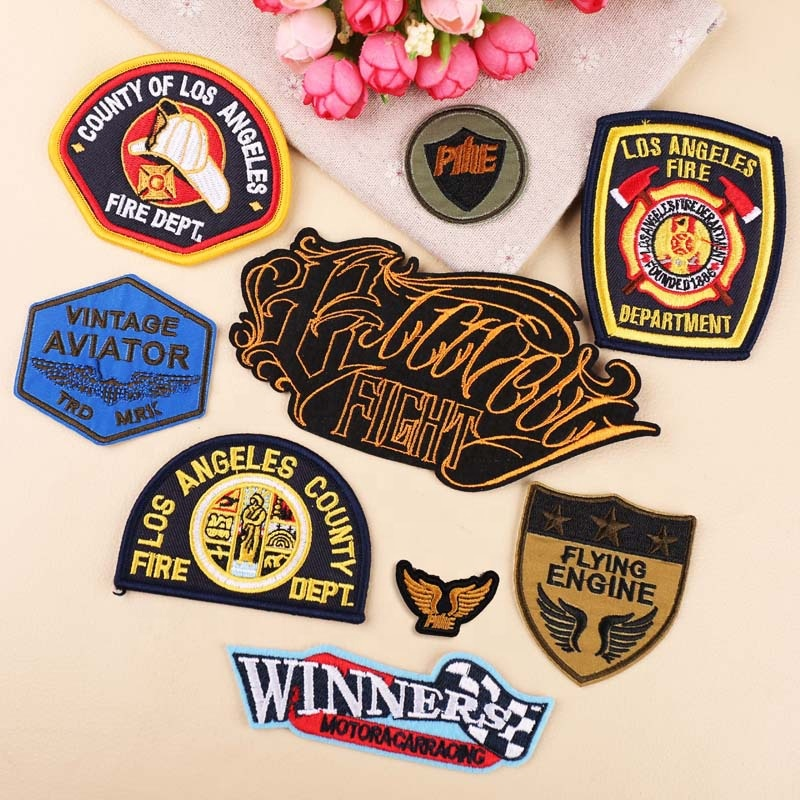 fire department embroidery patch and badge uniform embroidery patches iron on