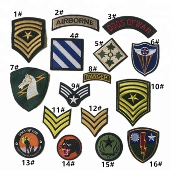 embroidery army patches,iron on embroidered hat patch badges for jackets denim jeans