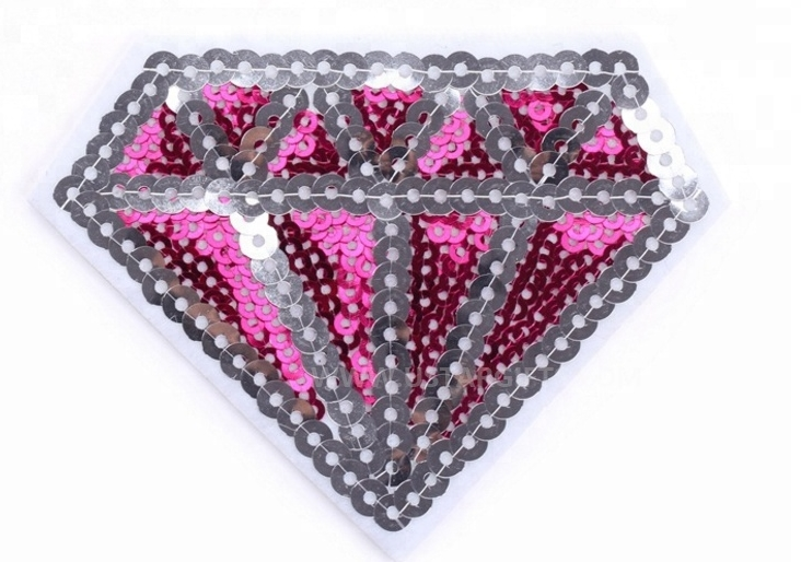 Cheap Cartoon Reversible Sequin Patch Iron On Embroidery Patches For Sale