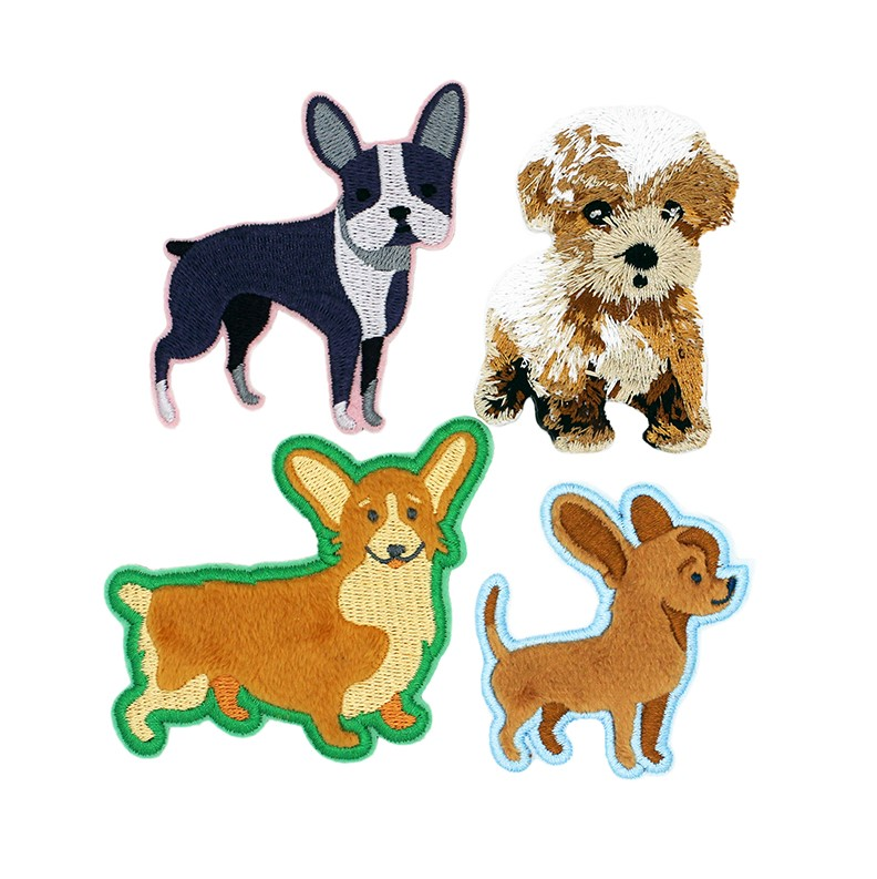 Custom dog embroidery designs patches