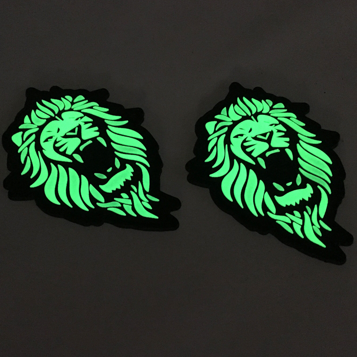 Customized Logo 3D PVC Glow in the dark PVC Rubber Patch Badge for Cloth