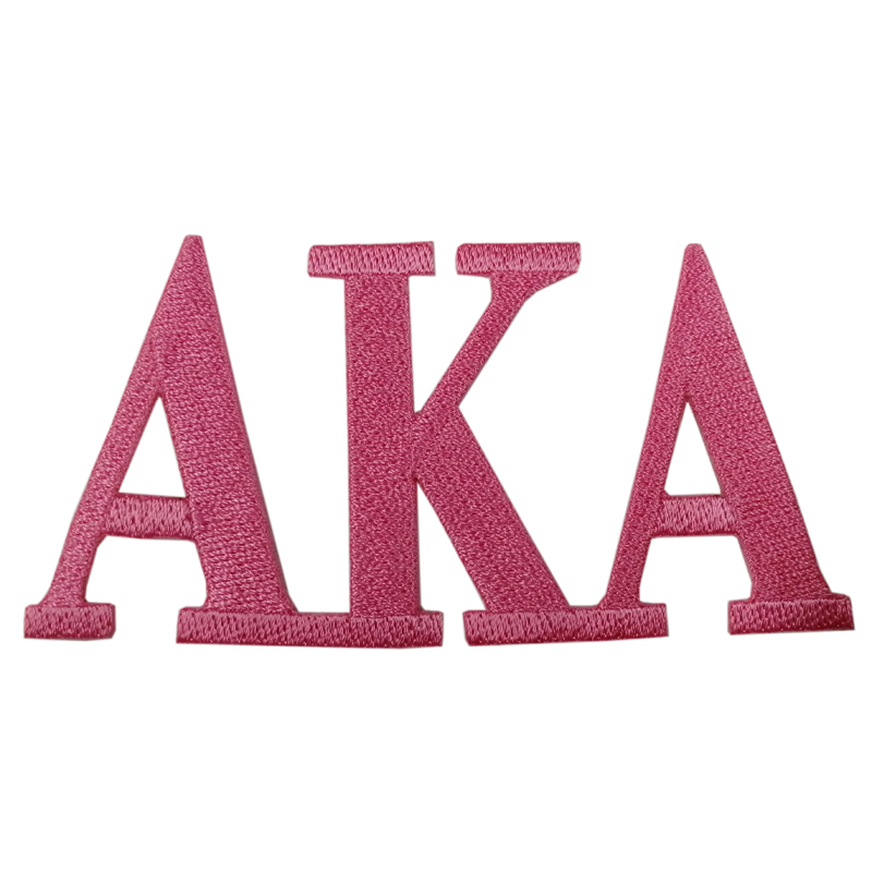Delta Sigma Theta Souvenir Embroidery Patch, Embroidered Letters Numbers Alphabet Patch