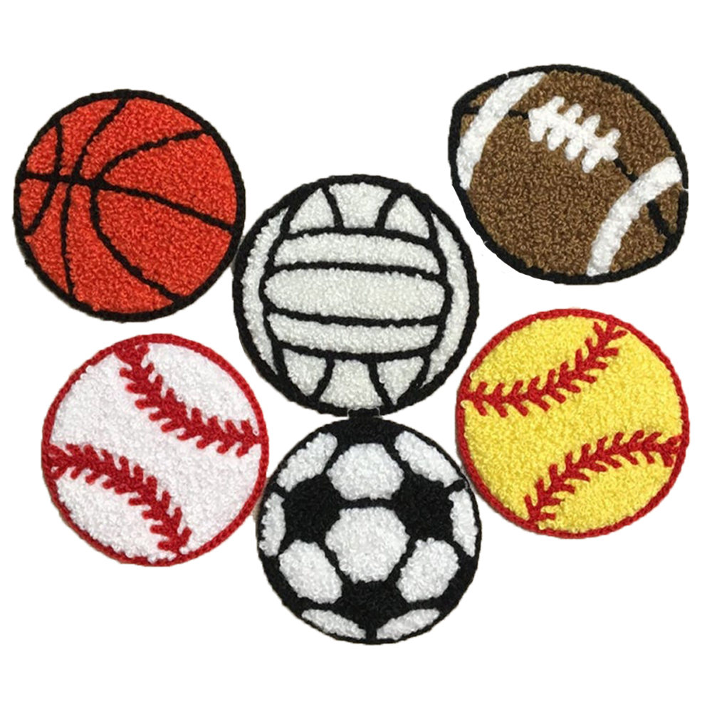 Sports Balls Iron on Applique Custom Letter Chenille Patch