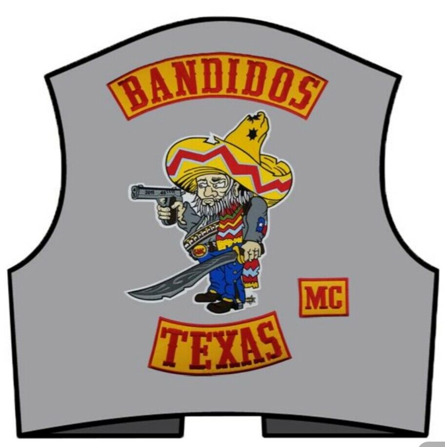 Bandidos Patches Biker Vest Iron-On Jacket