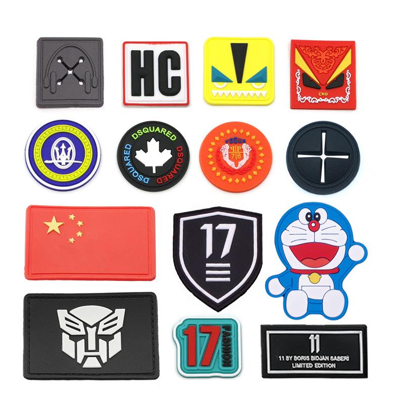 3D Logo Garment Soft PVC Rubber Patch Labels for Clothing