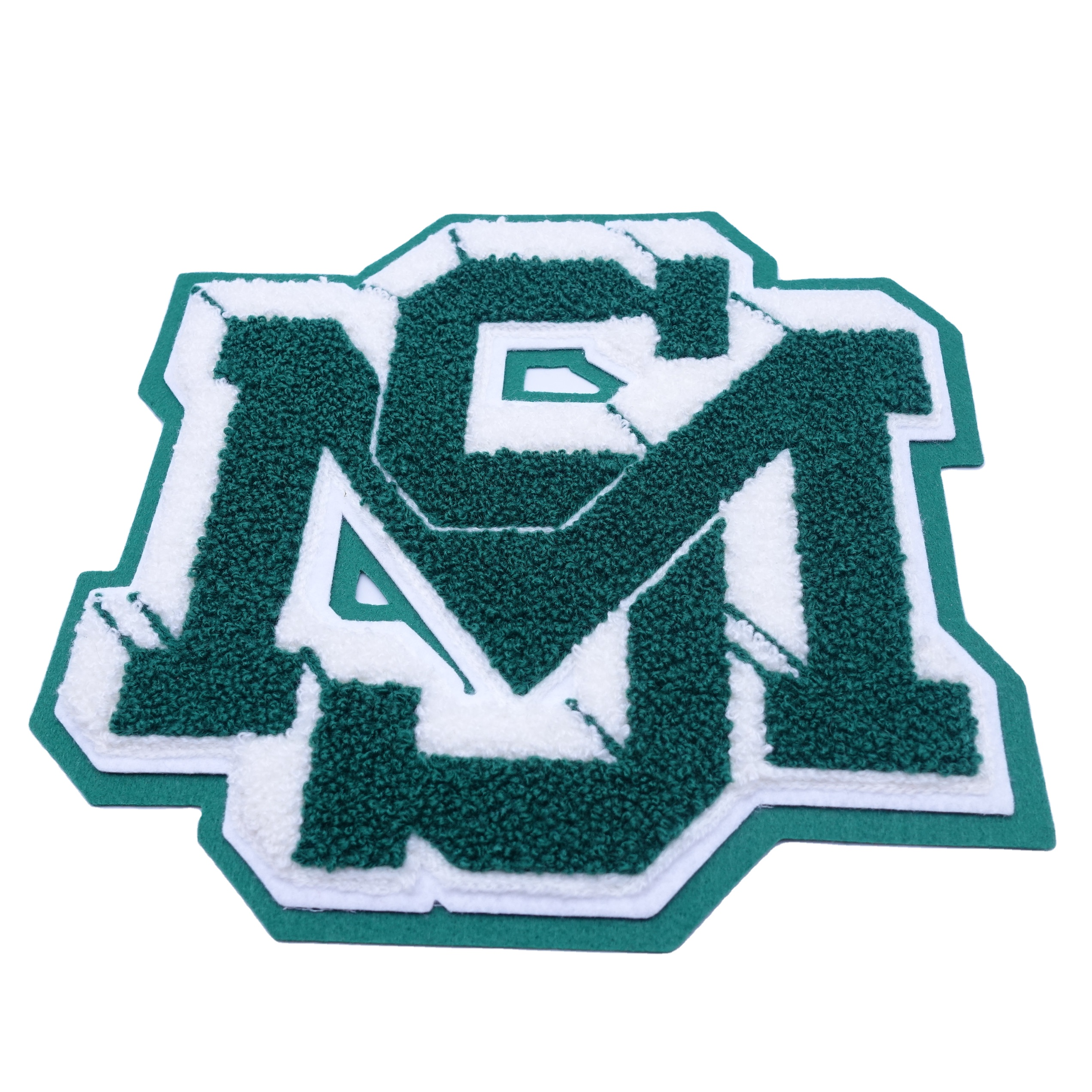 Sew on Large Iron on Customized Chenille Embroidered Sports Letter Patches for Garment/Bag/Jeans/Shoes