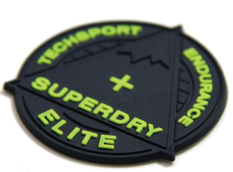 Eco-friendly rubber custom patch 3d silicone PVC garment labels