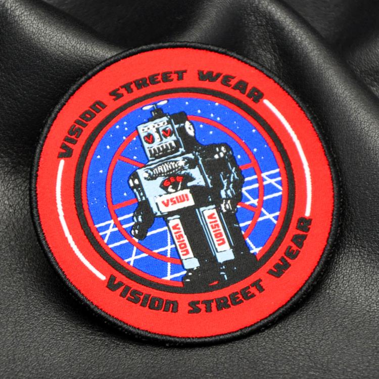 Iron on Custom Soccer Team Name Logo Machine Woven Sport Fabric damask woven patch
