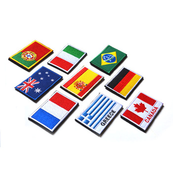 Embroidered Flag Patch Tactical Patches Military Flag Emblem Patch with Hook and Loop for garment Backpacks Hats Jackets