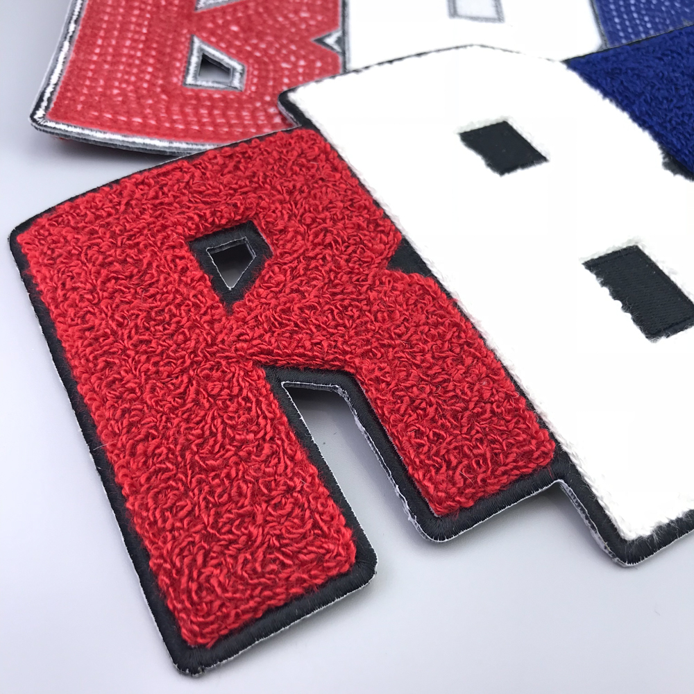 Factory price polyester embroidery towel chenille patches of clothing or jacks