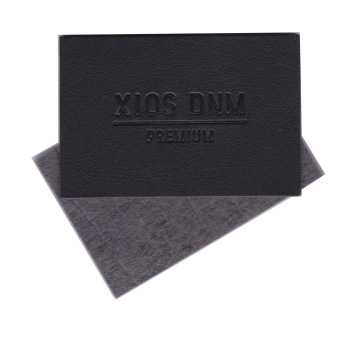 Brand logo artificial leather PU material debossed customized leather patch