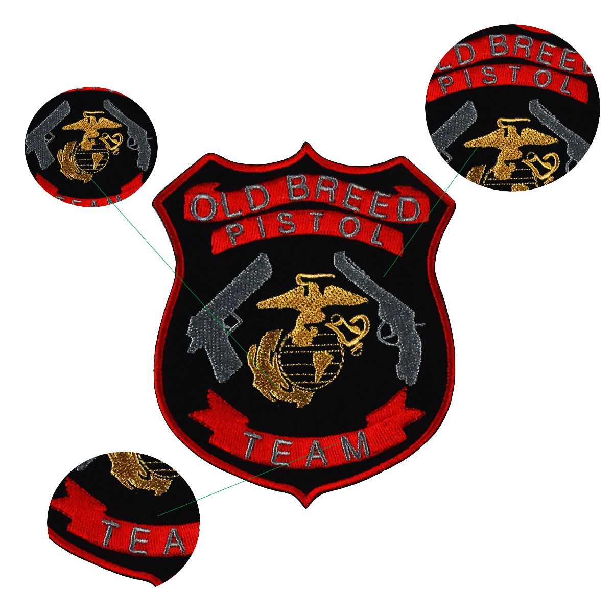 Wholesale Twill Material Iron Military Embroidery Patch