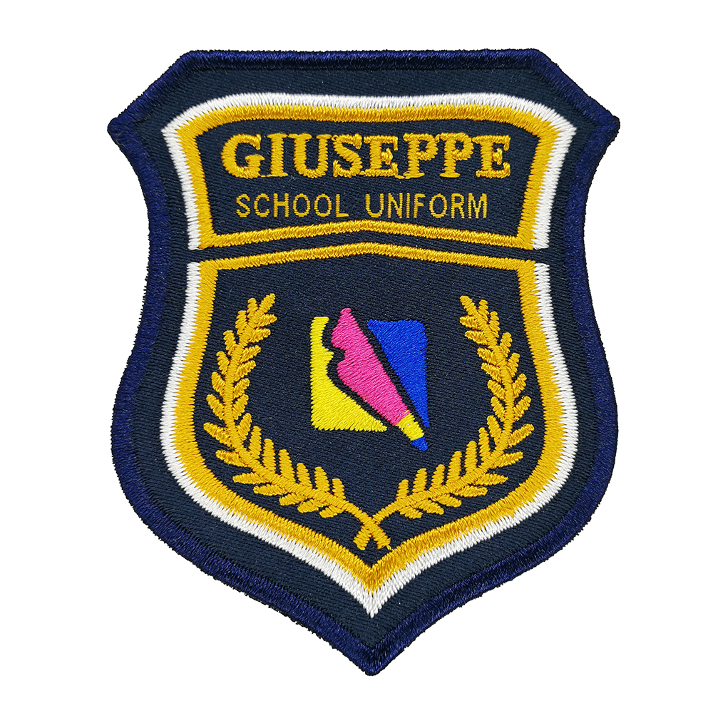 custom logo badge clothing school uniform polo patches