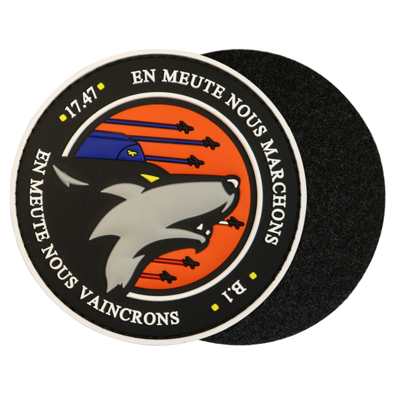 Customized Rubber 3D Logo Label PVC Embossed Engraved Rubber Patch For Armed Forces