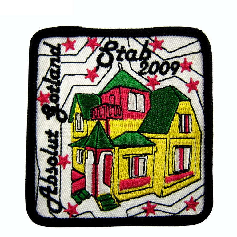 Low Price Newly Pattern 3 D Flocking Embroidery Patches