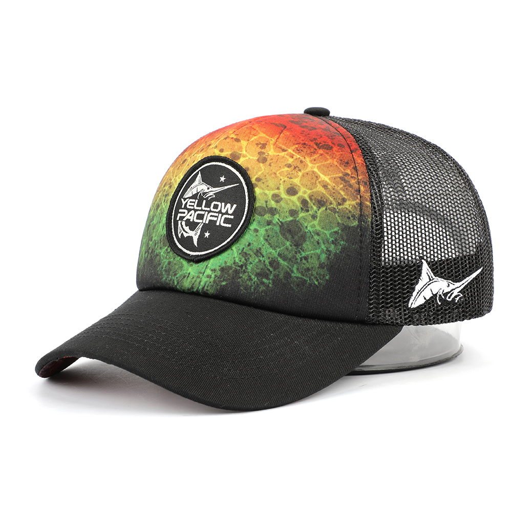 Factory Direct Sale 5 Panel Mesh Adjustable Adult Woven Patch Polyester Bright Colored Sublimated Foam Trucker Hat