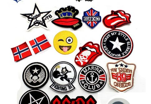 Wholesale Custom Clothing Woven Fabric Badge Embroidery Patch