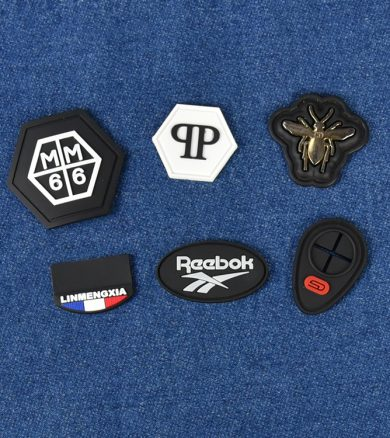 Garment accessories embossed clothing soft 2d 3d silicone custom logo cap hat tactical rubber pvc patch